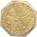 California Fractional Gold: , 1880 25C Indian Octagonal 25 Cents, BG-799X, R.3, MS64 PCGS. PCGSPopulation (66/20). NGC Census: (9/9). ...