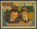 "Movie Posters:Mystery, Calling Philo Vance (Warner Brothers, 1940). Lobby Card (11"" X14""). Mystery. ..."