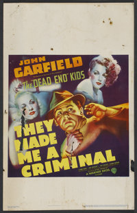 "They Made Me a Criminal (Warner Brothers, 1939). Window Card (14"" X 22""). Crime"
