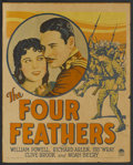 "Movie Posters:Adventure, The Four Feathers (Paramount, 1929). Window Card (14"" X 17"").Adventure. ..."