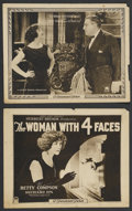 "Movie Posters:Drama, The Woman with Four Faces (Paramount, 1923). Title Lobby Card and Lobby Card (11"" X 14""). Drama. ... (Total: 2 Items)"