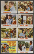"Movie Posters:Adventure, Green Fire (MGM, 1954). Lobby Card Set of 8 (11"" X 14""). Adventure. ... (Total: 8 Items)"