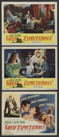 """Movie Posters:Drama, Great Expectations (Universal International, 1947). Title LobbyCard and Lobby Cards (2) (11"""" X 14""""). Drama. ... (Total: 3 Items)"""