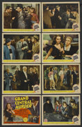 "Movie Posters:Mystery, Grand Central Murder (MGM, 1942). Lobby Card Set of 8 (11"" X 14"").Mystery. ... (Total: 8 Items)"