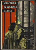 """Movie Posters:Adventure, The Man in the Iron Mask (United Artists, R-1957). Polish Poster(24"""" X 34""""). Adventure. ..."""