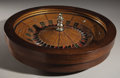 Antiques:Decorative Americana, SALOON ROULETTE WHEEL CIRCA 1900 - Half size wheel, convertiblewith legs for counter top use and lip for table use. Very de...