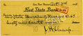 Western Expansion:Cowboy, WESTERN ARTIST J. H. SHARP AUTOGRAPH CHECK 1945 - One of thefounders of the Taos School. Signed check from Taos, New Mexic...(Total: 1 Item)