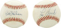 Autographs:Baseballs, Lou Brock and Bob Gibson Single Signed Baseballs Lot of 2. TheCardinals Hall of Fame duo of Bob Gibson and Lou Brock each ...