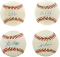 Autographs:Baseballs, Baseball Stars Single Signed Baseballs Lot of 4. Single signedbaseballs from four of Major League Baseball's stars of the ...