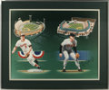 Baseball Collectibles:Others, Cal Ripken and Brooks Robinson Signed Lithograph. Professionallymatted and frames lithograph the two greatest members of th...