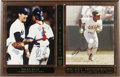 Autographs:Photos, Nolan Ryan and Rickey Henderson Signed Photographs/Plaque. Aspecial day in baseball history commemorated with the plaque h...