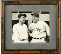 Autographs:Photos, Joe Cronin and Bucky Harris Signed Photograph. A pair of BaseballHall of Famers are pictured in this classic black and whi...
