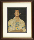 Autographs:Photos, Lew Alcindor Singed Photograph Framed and Matted. Possibly the bestcollege and professional basketball player to grace a c...