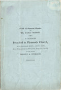 Books:Pamphlets & Tracts, THE FIRST KNOWN PAMPHLET PUBLISHED AFTER CUSTER'S DEATH ca.1876 - Asermon preached in Plymouth Church, Minneapolis, Minn.. ...