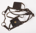 Western Expansion:Cowboy, U.S. MILITARY MULE BLINDERS ca.1900 - This set of mule blinders iscomplete as manufactured for U.S. government.. Condition:...