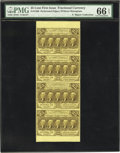 Fractional Currency:First Issue, Fr. 1280 25¢ First Issue Vertical Strip of Four PMG GemUncirculated 66 EPQ....