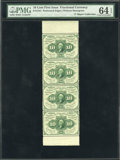 Fractional Currency:First Issue, Fr. 1241 10¢ First Issue Strip of Four PMG Choice Uncirculated 64EPQ....