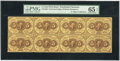 Fractional Currency:First Issue, Fr. 1229 5c First Issue Horizontal Block of Eight PMG GemUncirculated 65 EPQ. ...