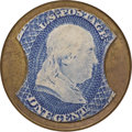 Encased Postage: , HB-28 EP-4a Scott-13 Reed-AS01MD 1¢ Ayer's Sarsaparilla MediumAyer's About New.. Numerical grade: 75case.85stamp.85mica. = 24...