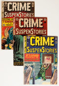Golden Age (1938-1955):Crime, Crime SuspenStories Group (EC, 1951-54) Condition: Average GD.... (Total: 7 Comic Books)