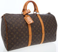 Luxury Accessories:Travel/Trunks, Louis Vuitton Classic Monogram Canvas Keepall 50 WeekenderOvernight Bag. ...