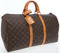 Louis Vuitton Classic Monogram Canvas Keepall 50 Weekender Overnight Bag