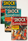 Golden Age (1938-1955):Horror, Shock SuspenStories #10, 11, and 15 Group (EC, 1953-54) Condition:Average VG-.... (Total: 3 Comic Books)