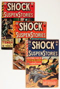 Golden Age (1938-1955):Horror, Shock SuspenStories Group (EC, 1953-54) Condition: AverageGD/VG.... (Total: 4 Comic Books)