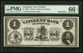 Obsoletes By State:Louisiana, New Orleans, LA- The Citizens' Bank of Louisiana $1 Remainder G2. ...