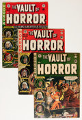 Golden Age (1938-1955):Horror, Vault of Horror #20, 23, and 35 Group (EC, 1951-54).... (Total: 3Comic Books)