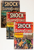 Golden Age (1938-1955):Horror, Shock SuspenStories Group (EC, 1952-53) Condition: Average GD....(Total: 5 Comic Books)