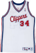 Basketball Collectibles:Uniforms, 1999-2000 Michael Olowokandi Game Worn Los Angeles ClippersJersey....