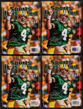 """Football Collectibles:Publications, Brett Favre Signed """"Sports Illustrated"""" Special Tribute Edition Magazines Lot of 4. ..."""