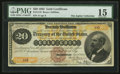 Large Size:Gold Certificates, Fr. 1175 $20 1882 Gold Certificate PMG Choice Fine 15.. ...