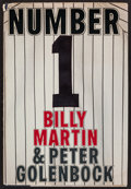 """Baseball Collectibles:Publications, Billy Martin Signed """"Number 1"""" Hardcover Book...."""