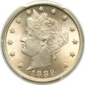 Liberty Nickels, 1889 5C MS66 PCGS. CAC....