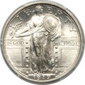 Standing Liberty Quarters, 1917-D 25C Type One MS66 Full Head PCGS....