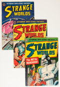 Golden Age (1938-1955):Science Fiction, Strange Worlds Group (Avon, 1952-54).... (Total: 5 Comic Books)