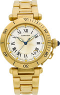 Timepieces:Wristwatch, Cartier Ref. 1027 Gold Pasha Automatic. ...