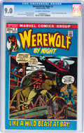 Bronze Age (1970-1979):Horror, Werewolf by Night #2 (Marvel, 1972) CGC VF/NM 9.0 Off-white to white pages....