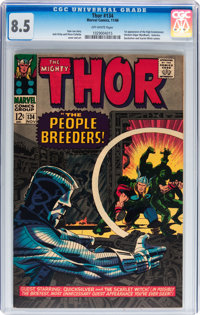Thor #134 (Marvel, 1966) CGC VF+ 8.5 Off-white pages
