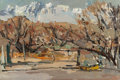 Fine Art - Painting, American, SI CHEN YUAN (Chinese, 1911-1974). Winter Trees and RuggedMountains. Oil on board. 24 x 36 inches (61.0 x 91.4 cm).Sig...