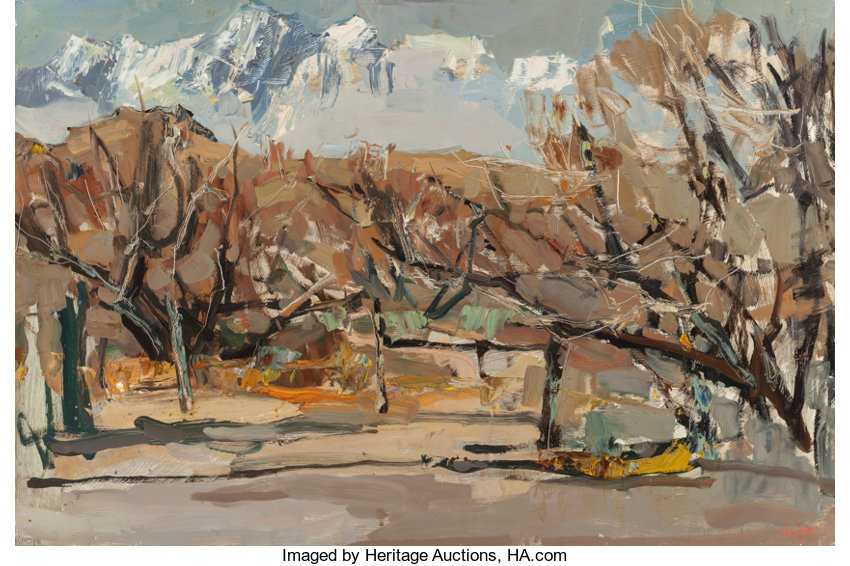 SI CHEN YUAN (Chinese, 1911-1974)  Winter Trees and Rugged | Lot