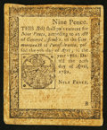 Colonial Notes:Pennsylvania, Pennsylvania April 20, 1781 9d Fine.. ...