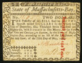 Colonial Notes:Massachusetts, Massachusetts May 5, 1780 $2 Fine-Very Fine.. ...