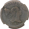 Half Cents, 1797 1/2 C Lettered Edge VG10 NGC. C-3b, B-3a, R.4....