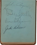 Baseball Collectibles:Others, 1940's Autograph Book With 163 Signatures - Jackie Robinson &Mel Ott....