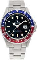 Timepieces:Wristwatch, No Shipping into the U.S. - Rolex Ref. 16700 Steel GMT Master II, circa 1990. ...