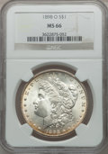 Morgan Dollars: , 1898-O $1 MS66 NGC. NGC Census: (1891/173). PCGS Population(1875/159). Mintage: 4,440,000. Numismedia Wsl. Price for probl...