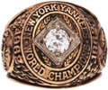 Baseball Collectibles:Others, 1962 New York Yankees World Championship Ring Presented to DaleLong....
